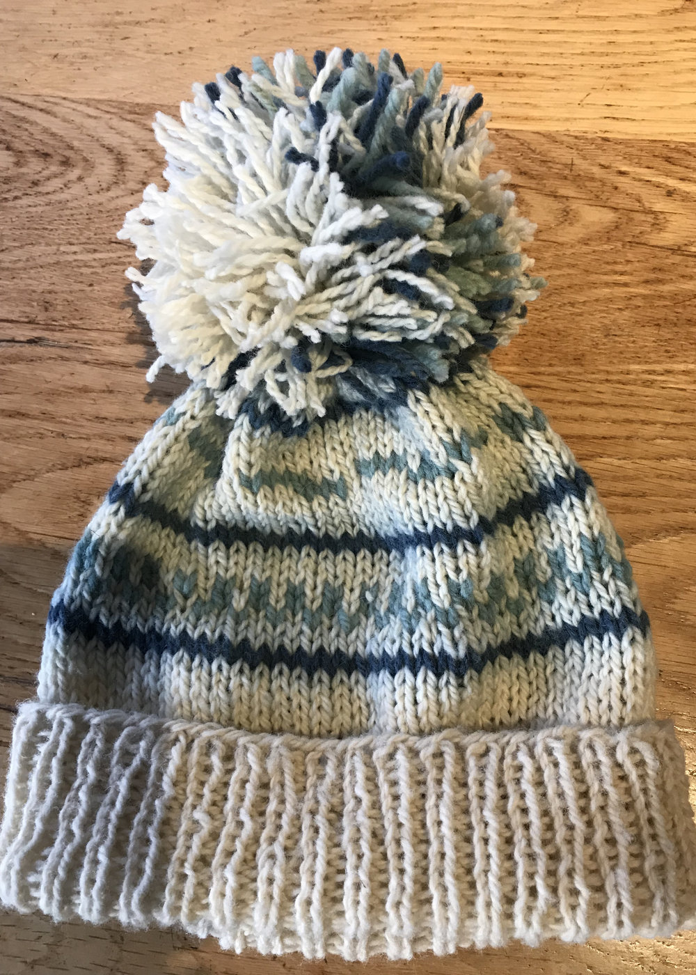 Gwen's warm and cozy hat.
