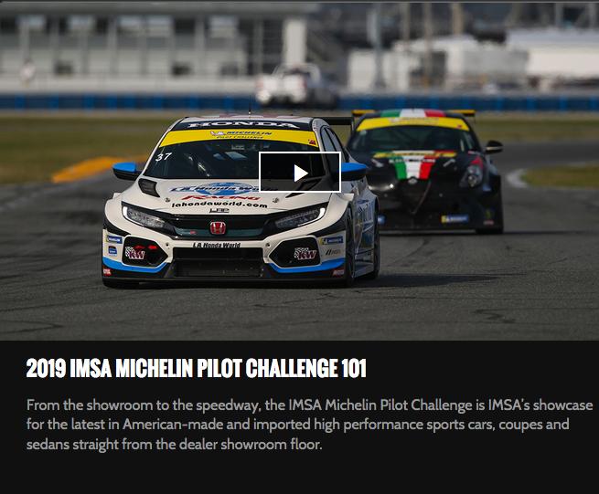 Imsa Live Stream >> Imsa Tv Streaming Michelin Pilot Challenge Live All Season L A