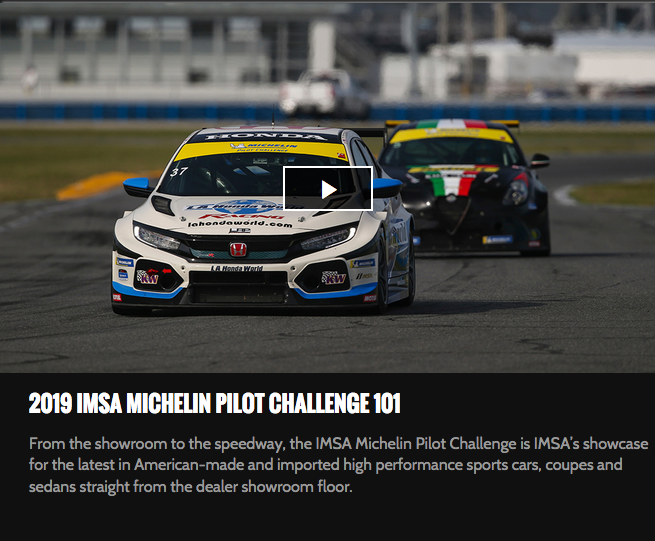 Imsa Live Stream >> Imsa Tv Streaming Michelin Pilot Challenge Live All Season