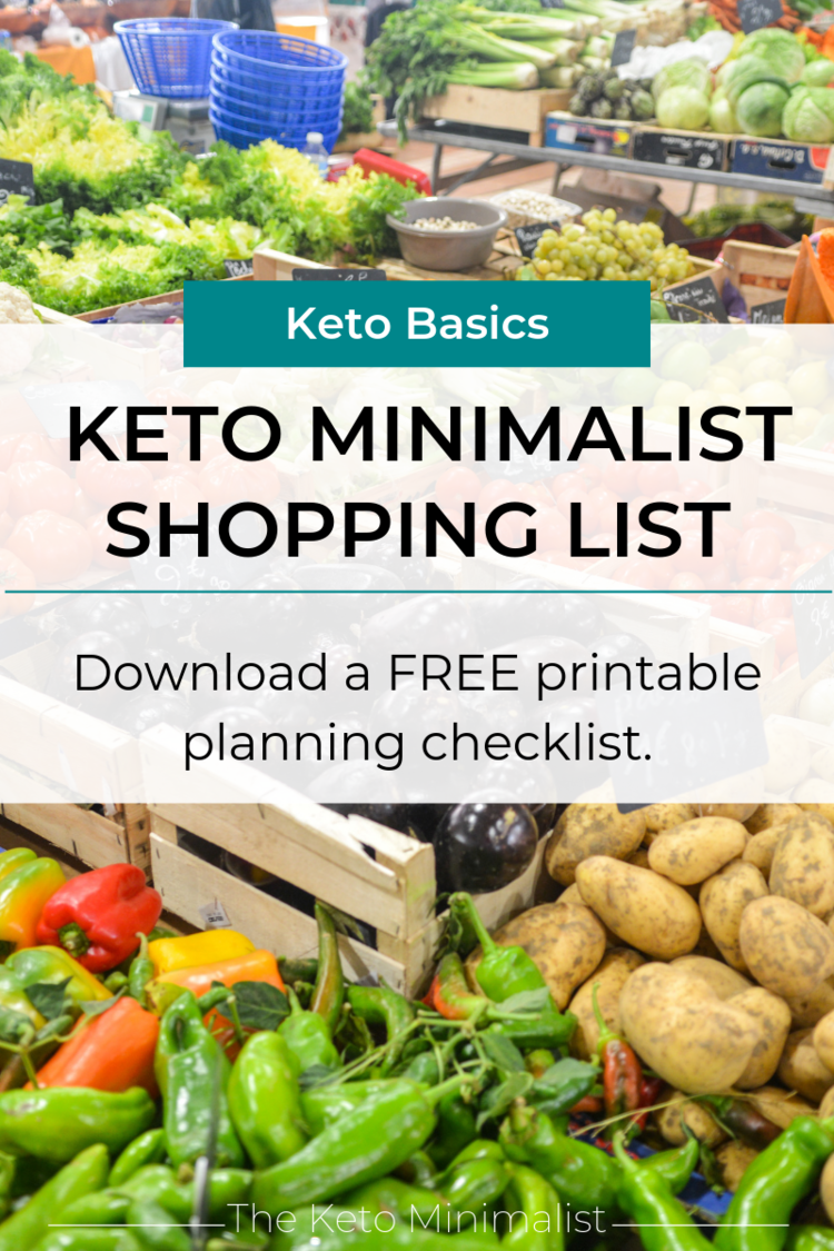 Free Printable Keto Shopping List | PDF Keto Grocery List for