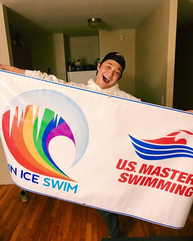 Our banner came!! We're so official! #mniceswimclub #usms #mastersswimming #gayswimteam #lgbt #swimming
