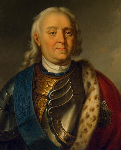 Fjodor Apraksin, befälhavare över den ryska Östersjöflottan. Vasilij Bovin, 1848. Eremitaget, S:t Petersburg.