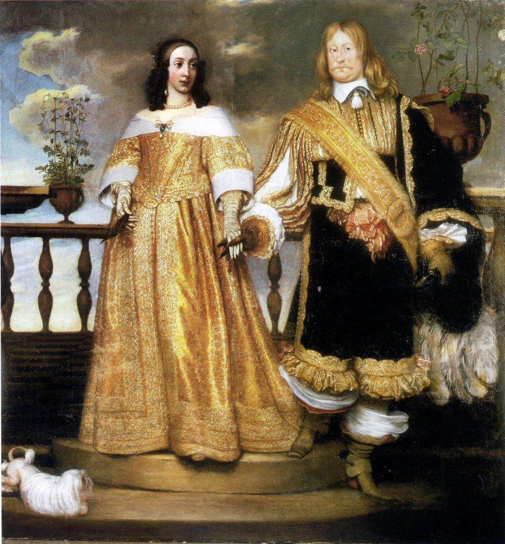 Magnus Gabriel De la Gardie var en av stormaktstidens mest framträdande personer. På målningen av Hendrik Münnichhoven från 1653 syns han med makan Maria Eufrosyne av Pfalz.