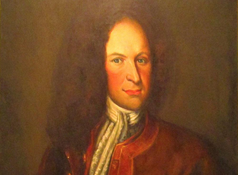 Porträtt som antas föreställa Lars Gathenhielm. Okänd konstnär.