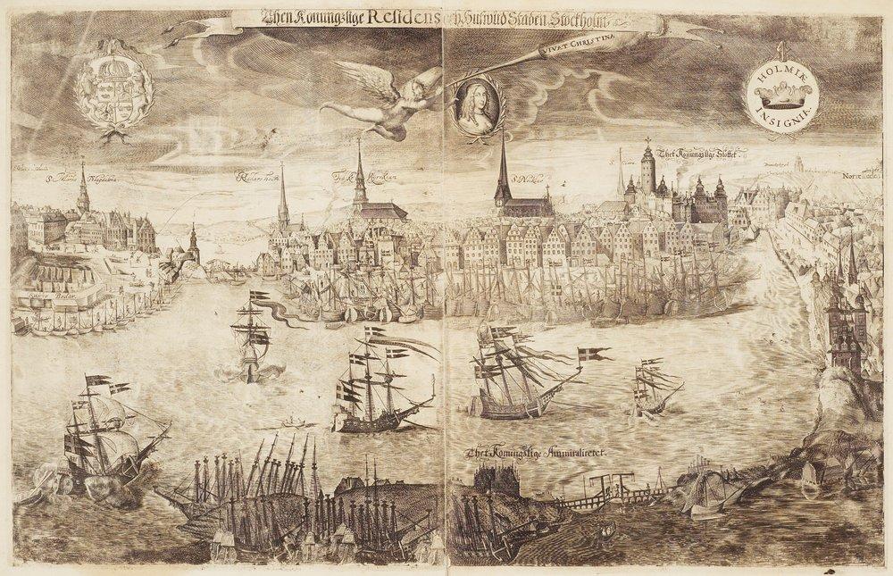 Utsikt över Stockholm till drottning Kristinas kröning 1650, Wolfgang Hartmann