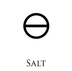 Salt of Salt: Alkaline Mineral Salts from burning the body. Salt of Sulphur: Mineral Salts obtained from burning the Fixed Sulphur