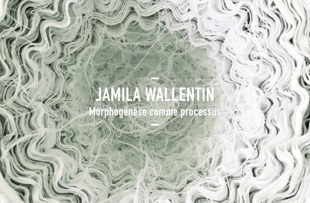 JAMILA WALLENTIN   De culture franco-allemande, Jamila Wallentin vit et travaille à Strasbourg. Originellement adossée à une pratique du textile avant d'étudier l'archéologie et l'histoire de l'art, elle poursuivit une formation en Art - Objet et Bijou contemporain à la Haute Ecole des Arts du Rhin ainsi qu'à l'Akademie der Bildenden Künste de Nuremberg….