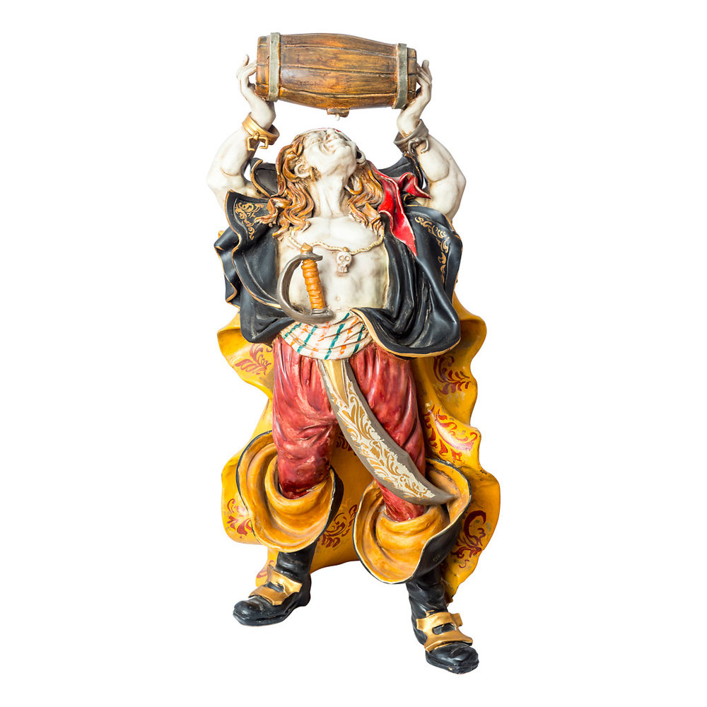 NR. 61, PERSEO,  HANDPAINTED TERRACOTTA STATUE: THE PIRATE COLLECTION, 38x57cm, TUSCANY, 70's