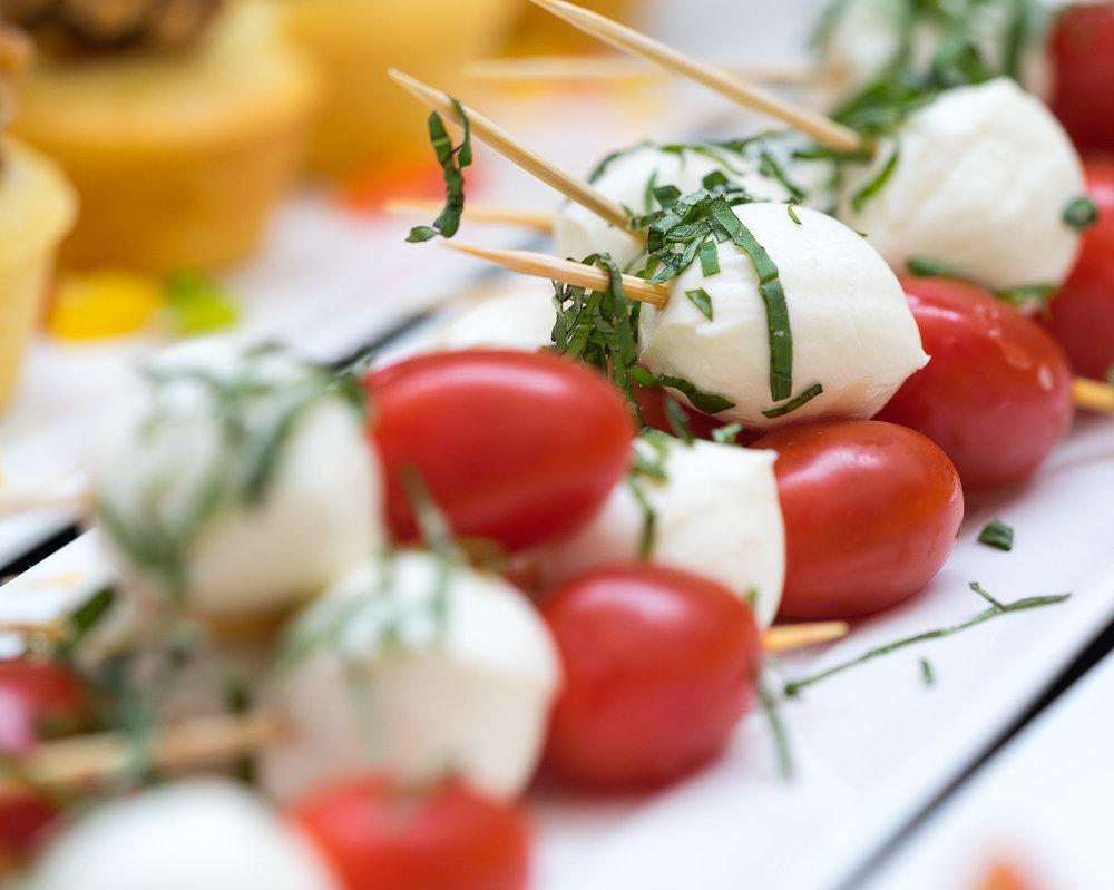 Bocconcini, Basil & Tomato Bites