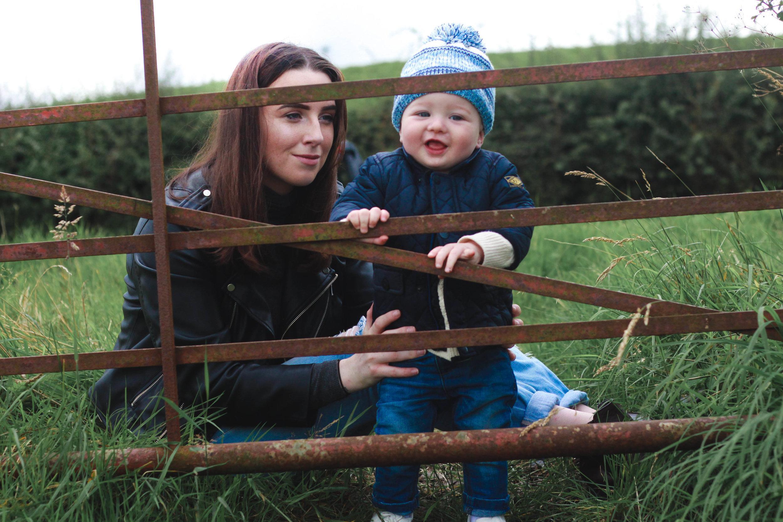 baby exploring farm mum glasgow baby gap