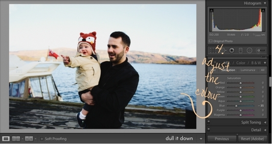 editing images on lightroom