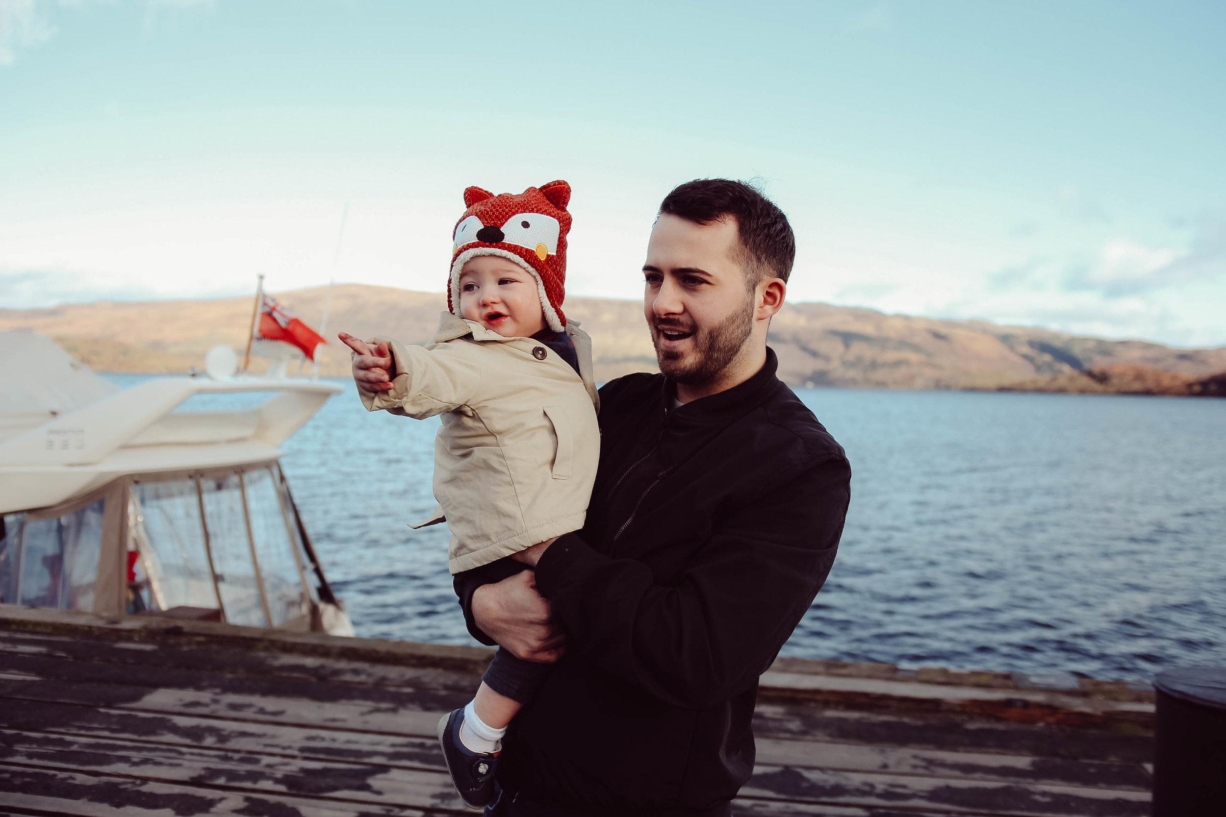 Loch lomond with a toddler