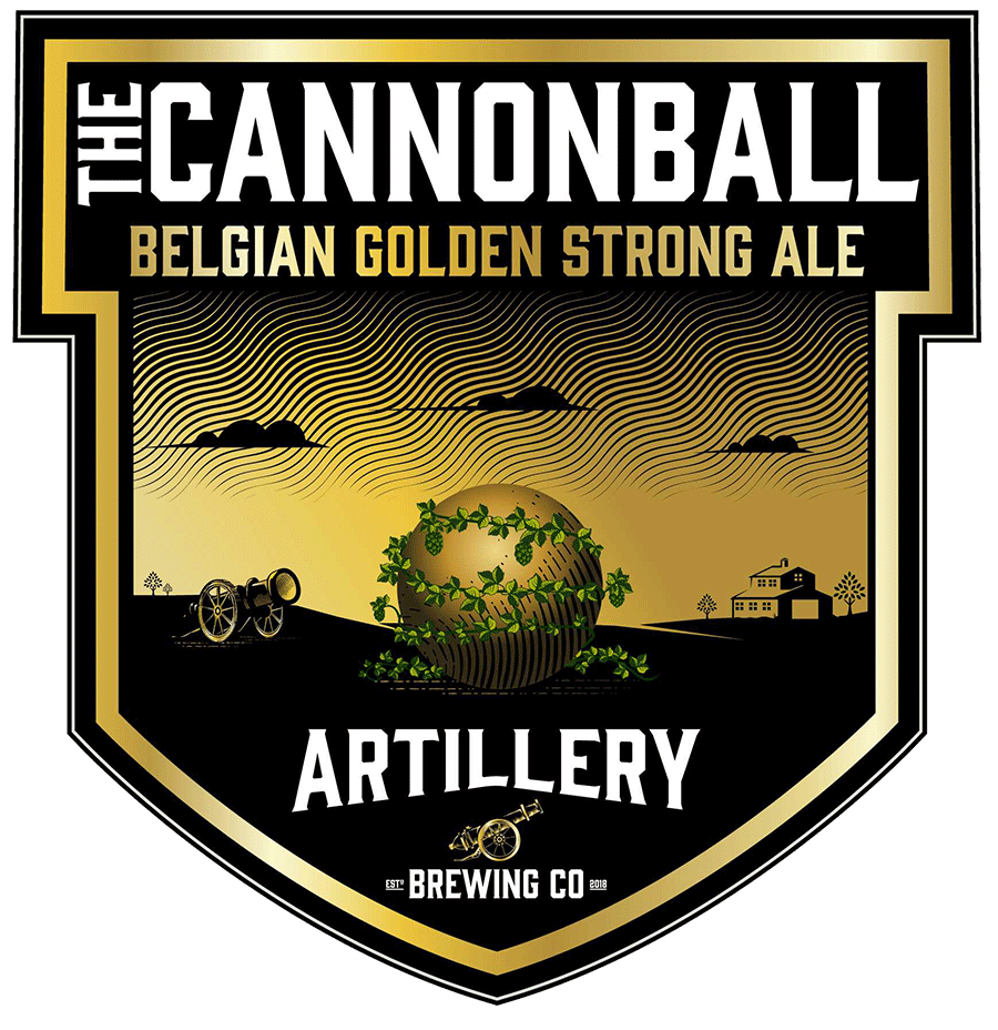 The Cannonball - It's both Golden and Strong. No pretenses. No formalities. This ale is coming to take your breath away, sneaking up on you while you're not noticing it. But then – BANG – there it is. Crisp, peppery and champagne-like, The Cannonball is sure to be an all-season staple in your arsenal!BELGIAN GOLDEN STRONG ALE - 8.5% ABV