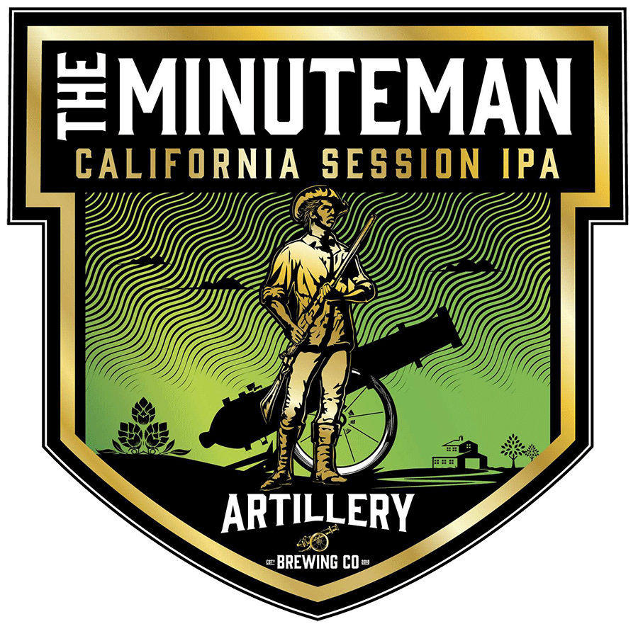 The Minuteman - Ready in a moment, lithe and eager to fulfill a mission. This ale is likewise ready at a moment's notice, clear-eyed and pure, bright and ready to fulfill its destiny, again and again. With flavor that belies its unencumbered nature, this is a perfect ale to enjoy at any time and still be ready to continue on in a minute.SESSION IPA - 4.5%ABV