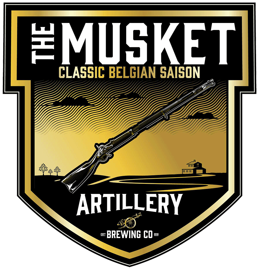 The Musket - It was ubiquitous in the battles that engulfed these fields. Indeed, it became intertwined with its inhabitants in the same historic space… the grains, the water, the air… and The Musket Classic Saison shares this same vision. Clear roots from the harvest. Bright and inviting aromas captivate like a field in mid-spring. Lift your glass, inhale deeply just above the rim, close your eyes, and for just a moment, become a part of the fields that surround you.BELGIAN SAISON - 6.0%ABV