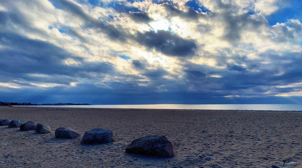 January 18, 2019 - Stormy Sky over Craigville Beach in Centerville, Massachusetts.