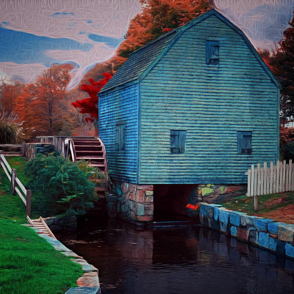 January 15, 2019 - Dexter's Grist Mill in Sandwich, Massachusetts.