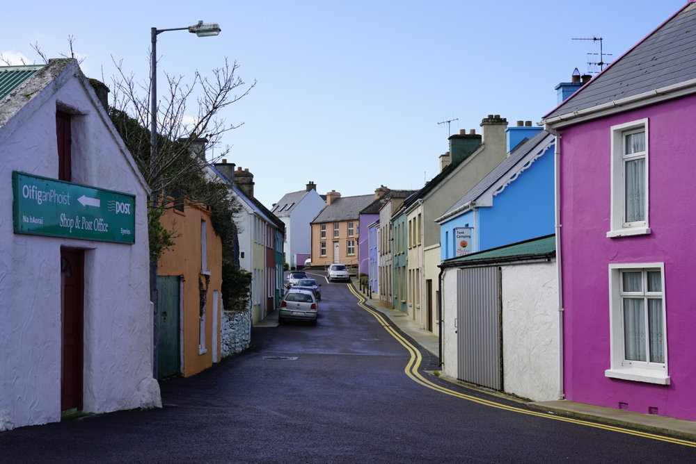 "January 10, 2019 - Driving into the ""Tidy Town"" of Eyries on the Beara Peninsula in the Republic of Ireland."