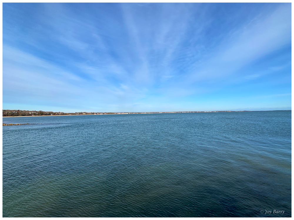 January 26, 2019 - Gorgeous, clear afternoon at Dowse's Beach in Osterville (Cape Cod), Massachusetts.