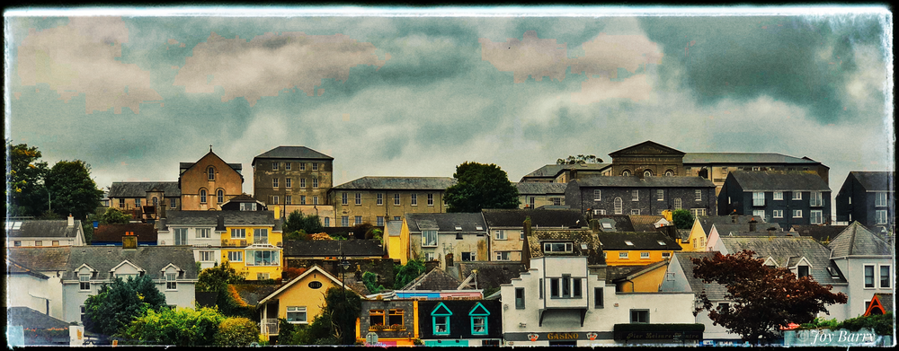 February 18, 2019 - Kinsale Rooftops. [Original photo edited in SnapSeed.]