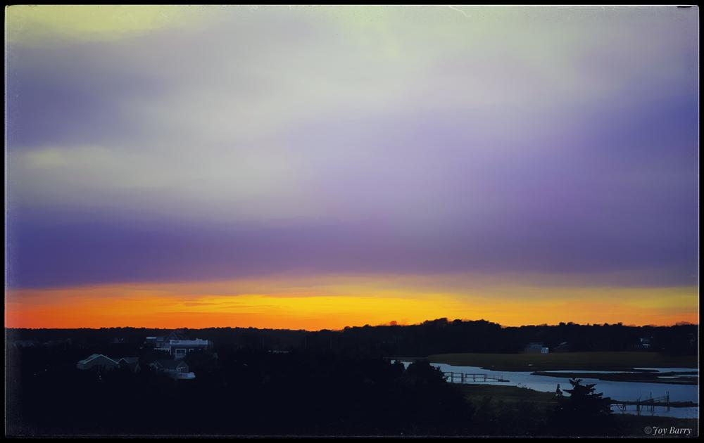 March 25, 2019 - Sunset over Regina Creek (Centerville, MA).