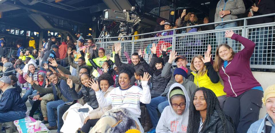 MN United Game Day - It's no surprise what our favorite sport is—soccer! MN United partnered with EKC for a special game day discount on tickets. Our group packed the stands, great seats too!