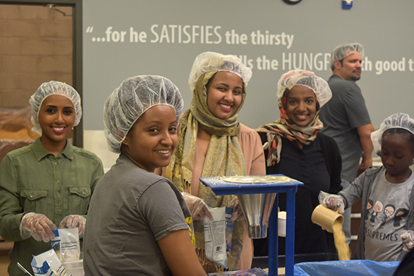 Giving Back - We spent the day at Feed My Starving Children and packed several hundred meals in one day!