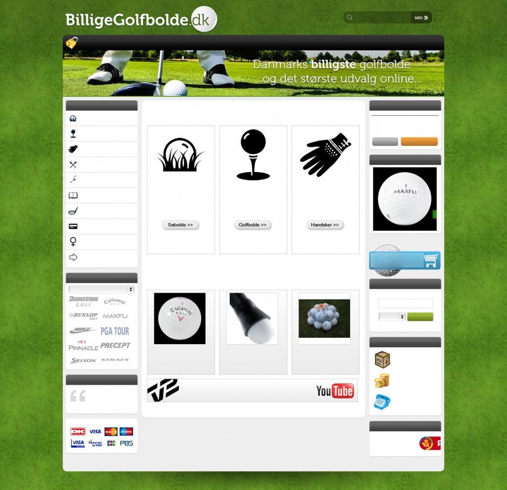BilligeGolfbolde.dk's forside