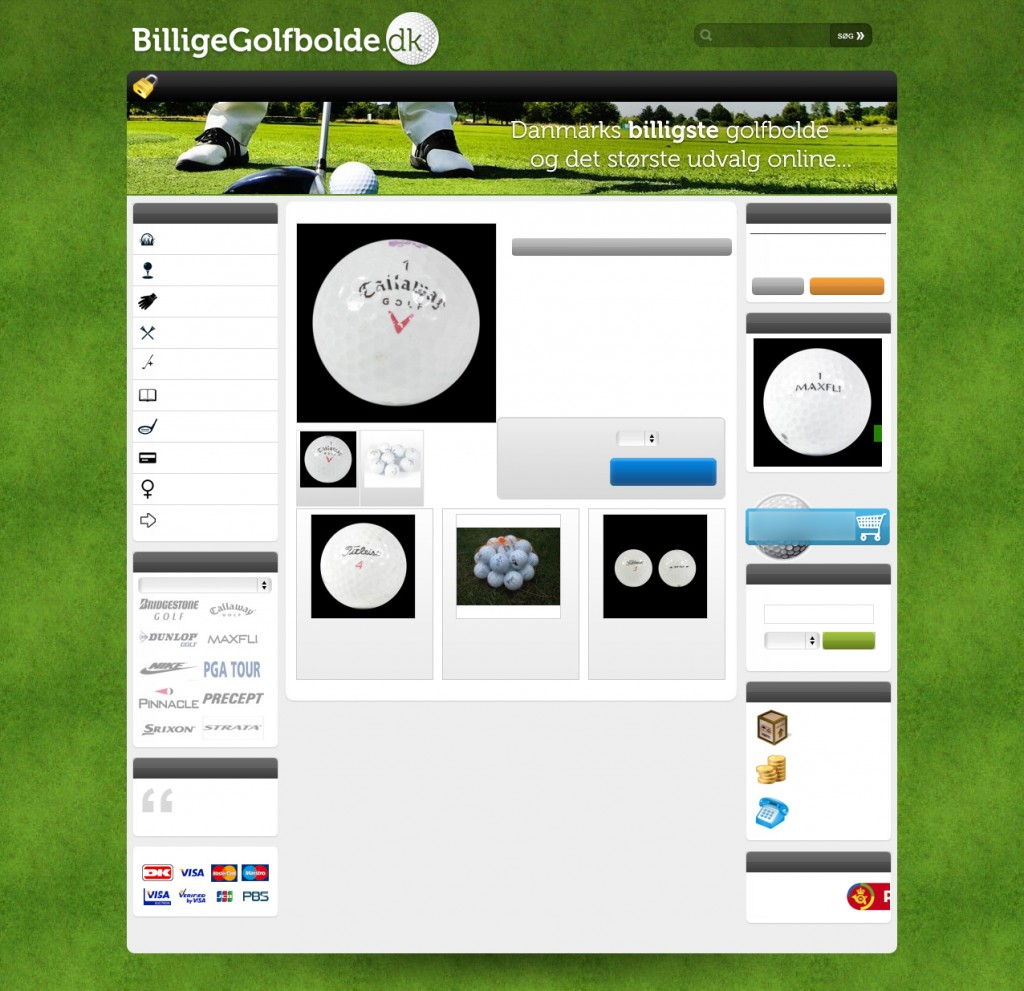 BilligeGolfbolde.dk's produktside
