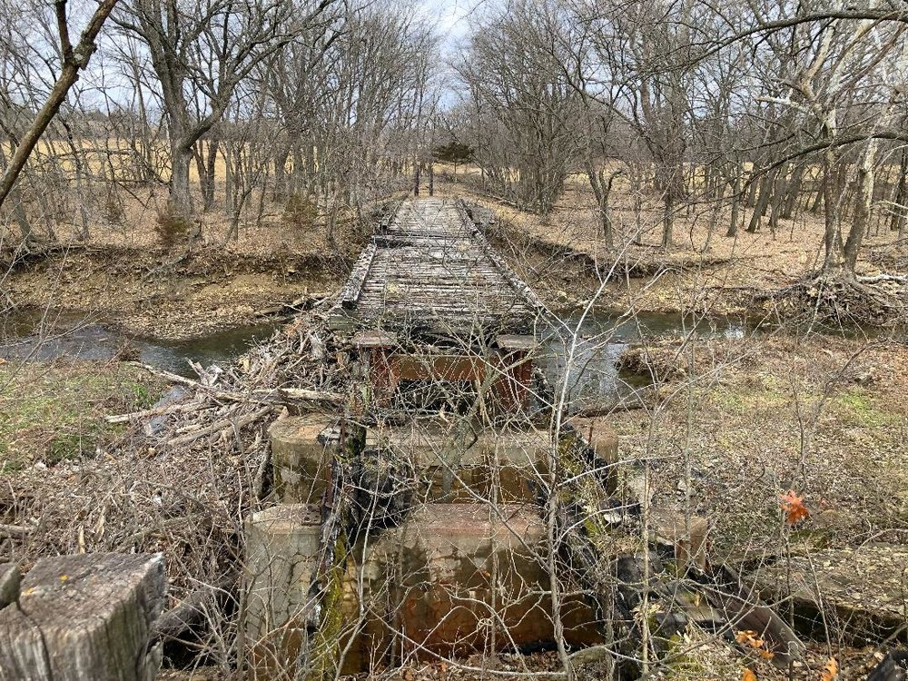 Old railroad bridge that has seen better days.