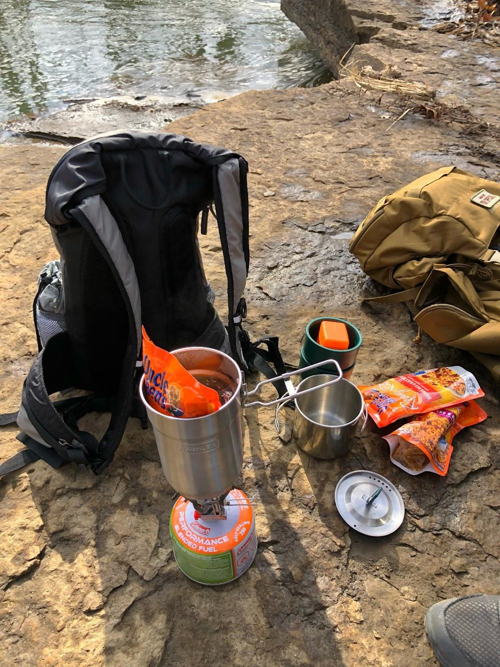 Our easy and tasty backpack lunch.