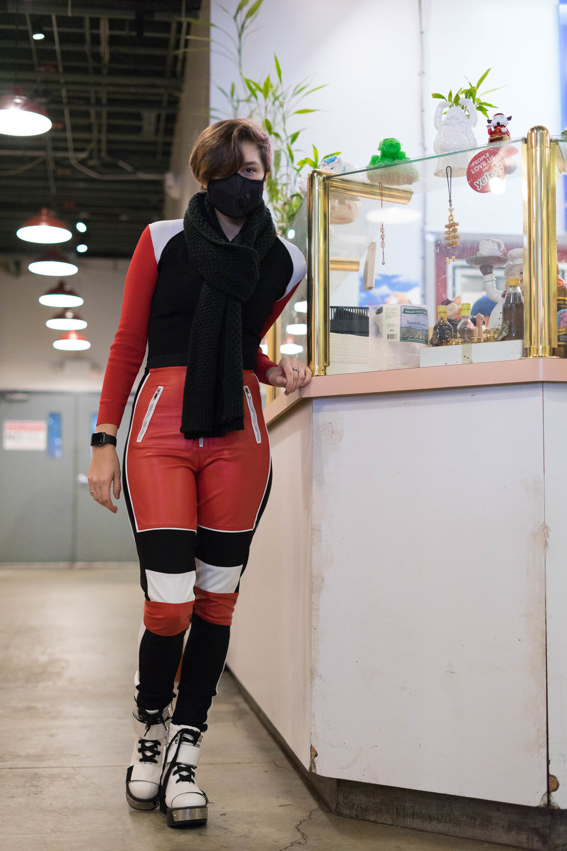 @sabrinasigns  – outfit  @currentmoodclothing  and  @mistressrocks , mask vogmask