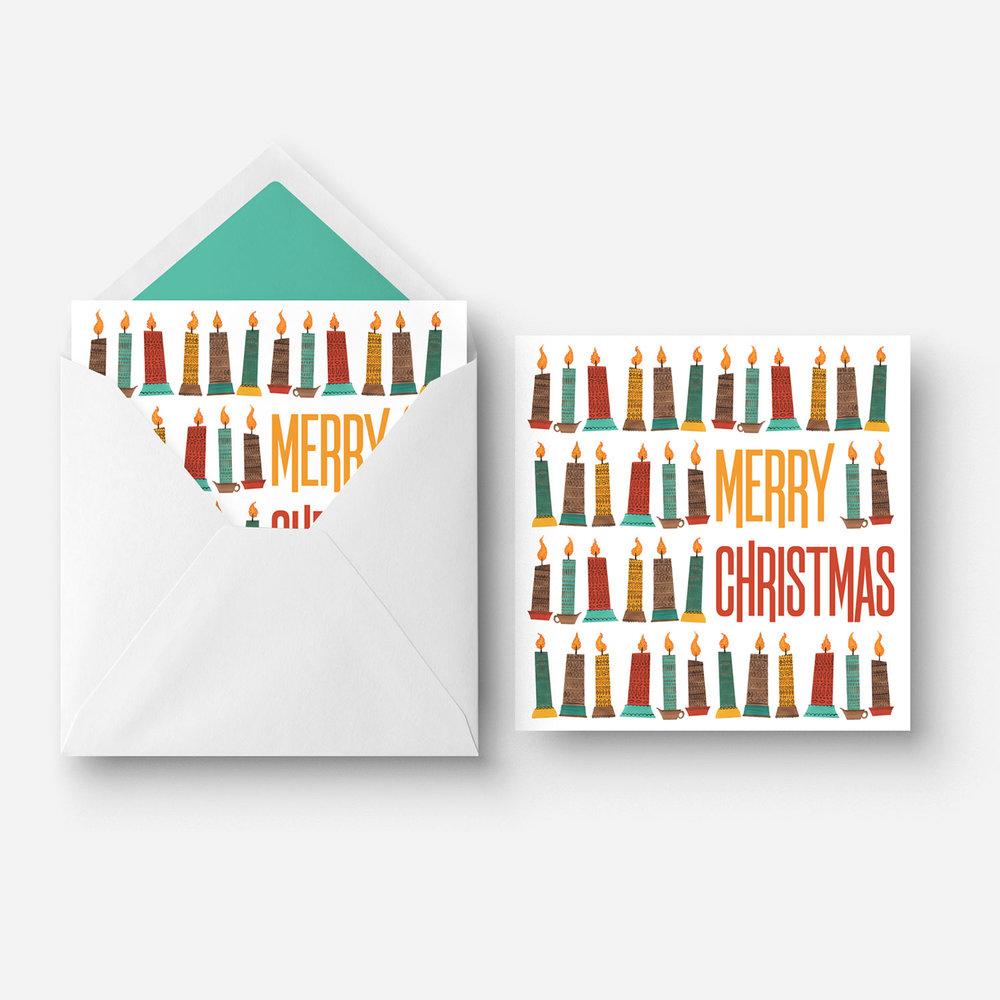 Greeting Card - Christmas Candles