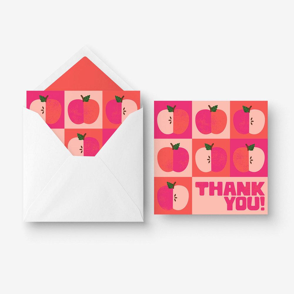 Greeting Card - Thank you Teacher - Apples