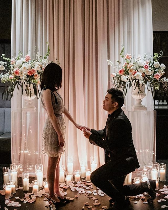 2 years ago, Eric and Angie got married sans a proposal. On her birthday, Eric decides to do it right 🌹 #luxeproposals 📷 @whitedahliastudios