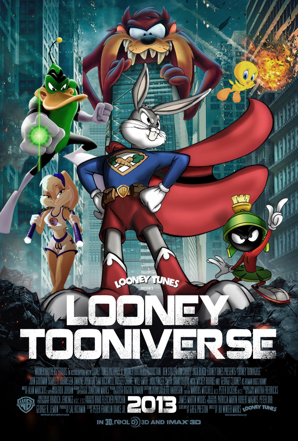 Feature Film pitch to Warner Brothers Studios for the animated feature film LOONEY TOONIVERSE.