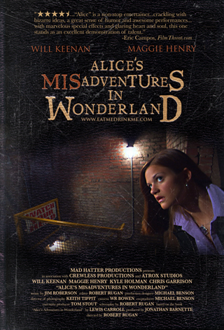 Poster for the Feature Film, ALICE'S MISADVENTURES IN WONDERLAND.