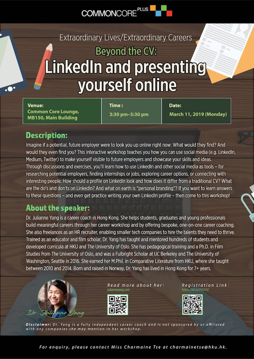 Beyond the CV: LinkedIn and presenting yourself online