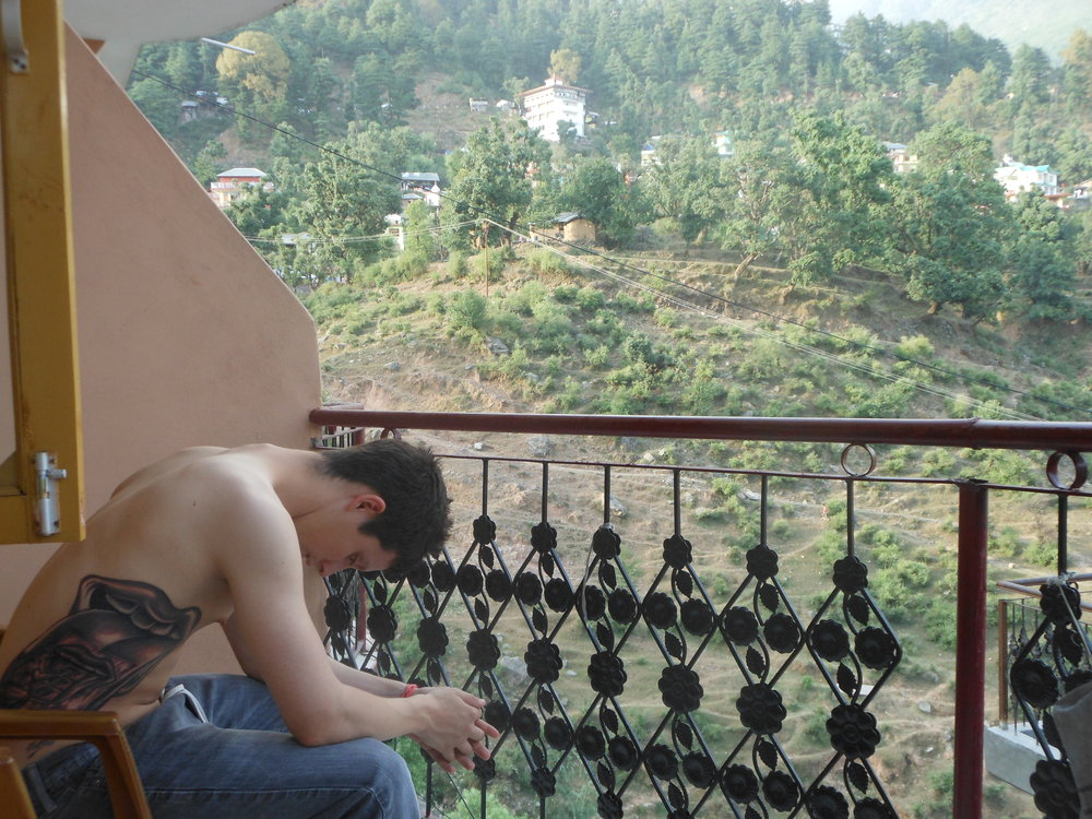 Chandler on Porch in India.JPG