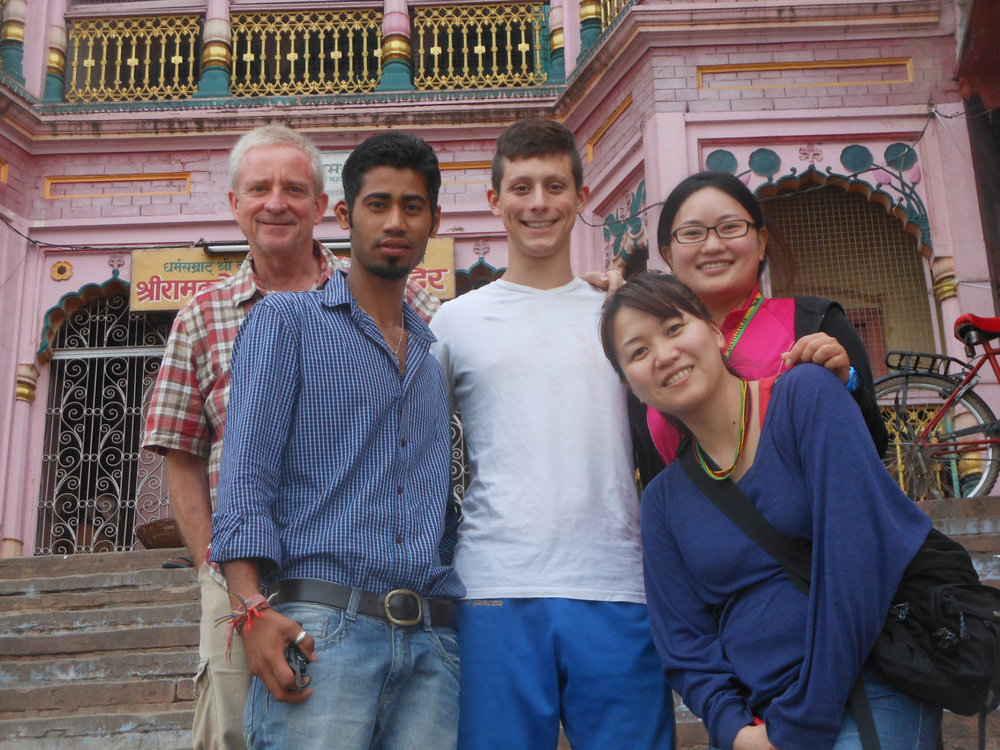 Chandler in India with Friends on Steps.jpg