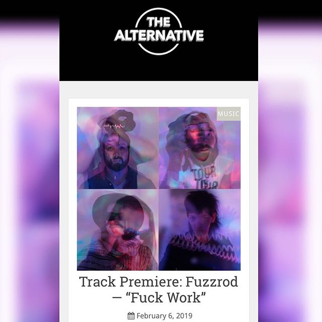 "Check out Fuzzrod's first single ""Fuck Work"" out today on @getalternative! Make sure you head to our website to preorder the album! #fuzzrod #fuckwork #Rochester #rochestermusic #punkrock"