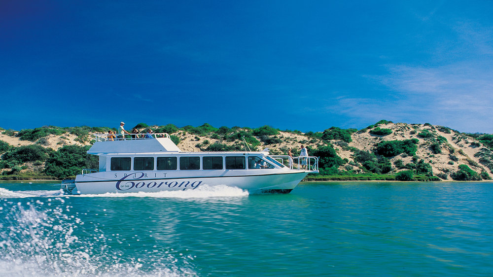 Spirit of the coorong - Built in 1998 Spirit of the Coorong is 14 metres long, powered by twin Honda 250 hp outboard engines giving a service speed of 20 knots. Toilet equipped she has  seating for up to 50 passengers.