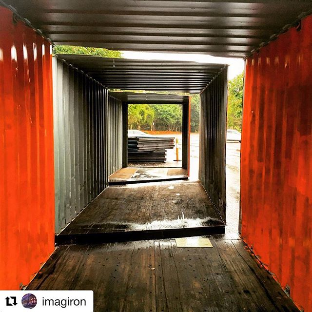 Shipping container cuts! See you soon honeysuckle . . .  #Repost @imagiron ・・・ If you want to know how to butcher a 40' shipping container, I can now tell you.