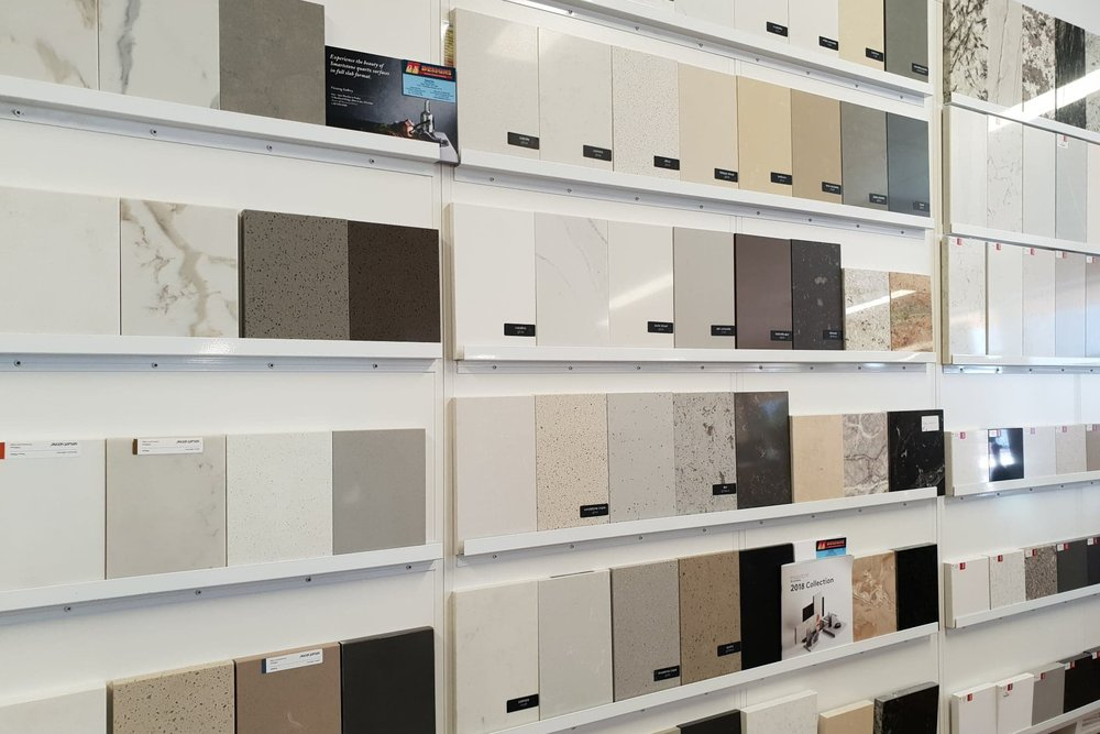 4. Design Confirmation & Colour Selection - Once the design is finalised, from our assortment of products on display, you can choose everything from bench top colours to appliances. A fully detailed quote can then be provided.
