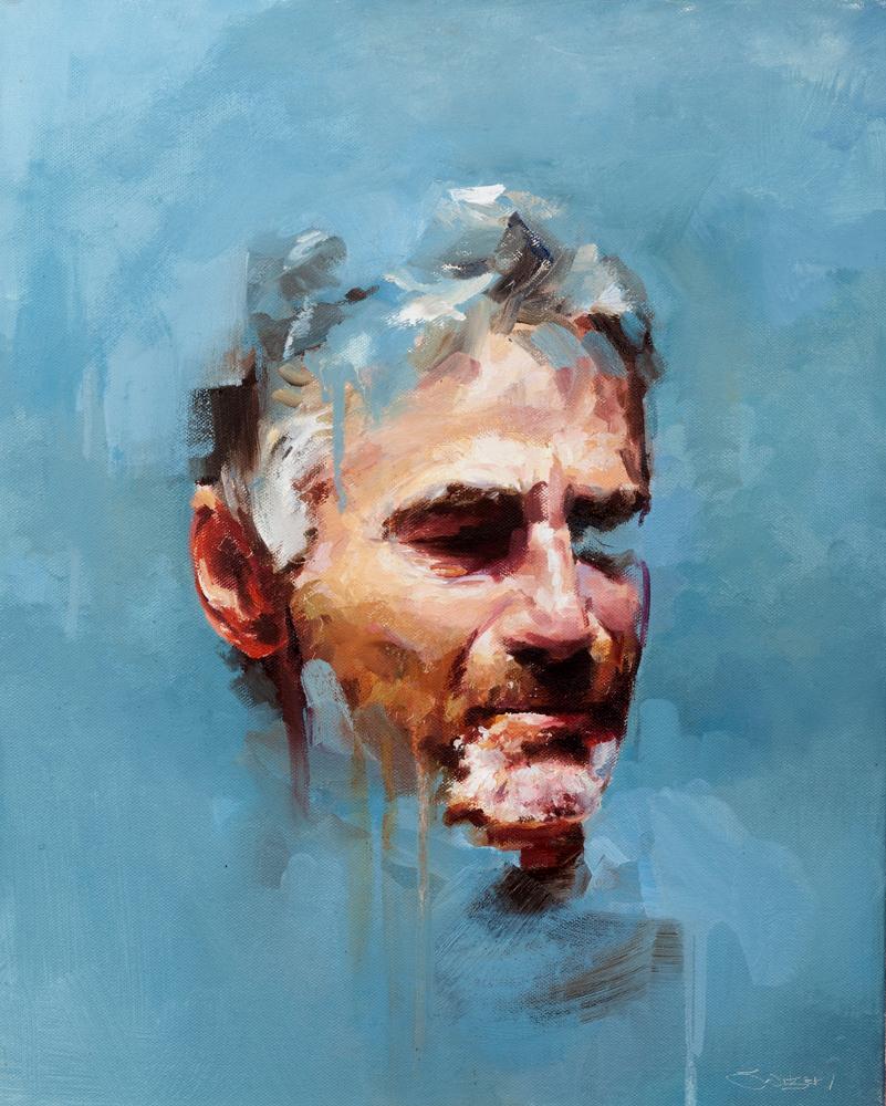 Blue Study  Oil on canvas | 50 x 40cm
