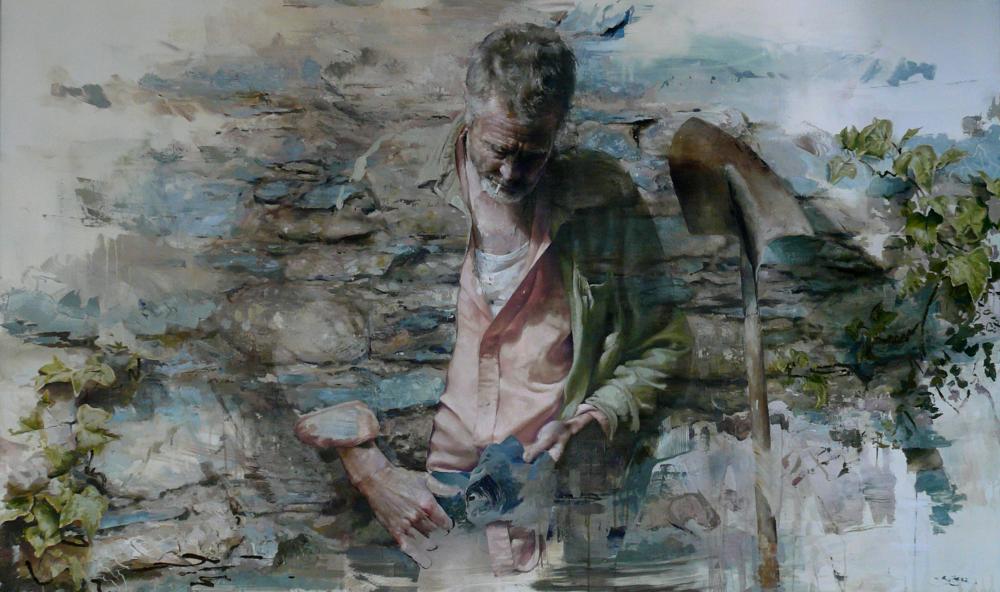 Sisyphus  Oil on canvas | 90 x 150cm
