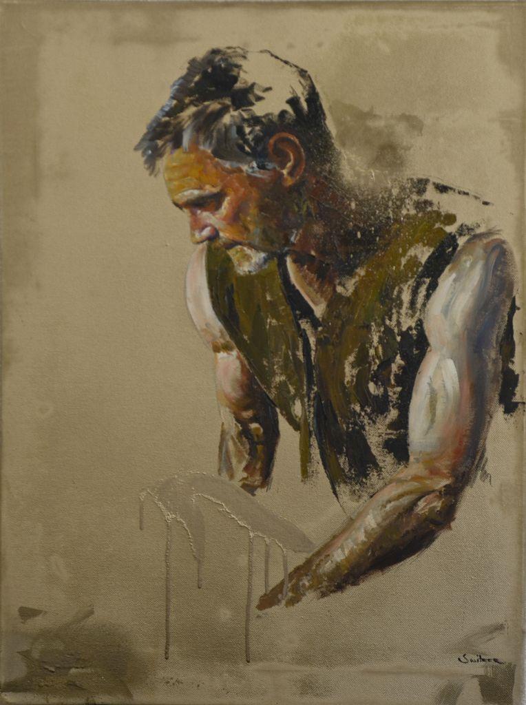 Pall-bearer Oil on canvas | 61 x 46cm