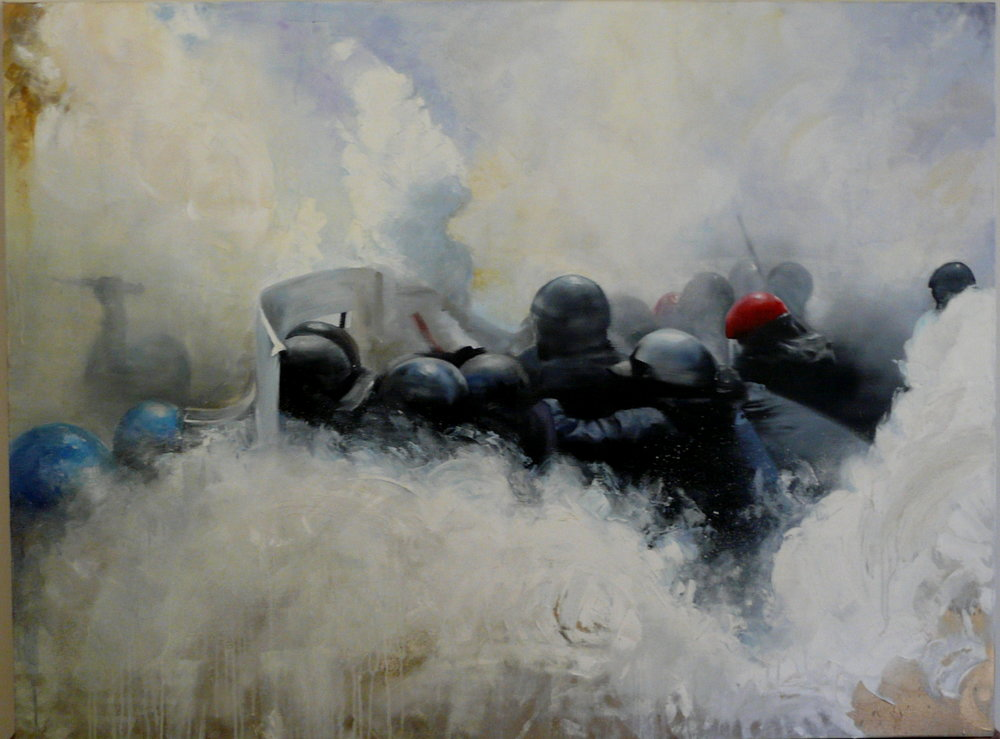 Guerrillas In The Mist  Oil on canvas | 90 X 122cm