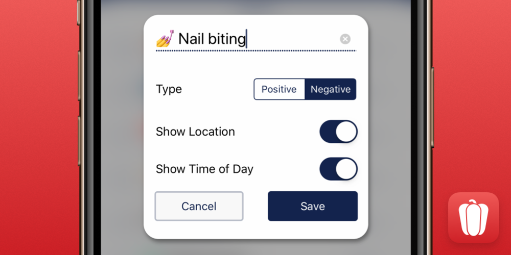 You can now select whether a habit is positive or negative