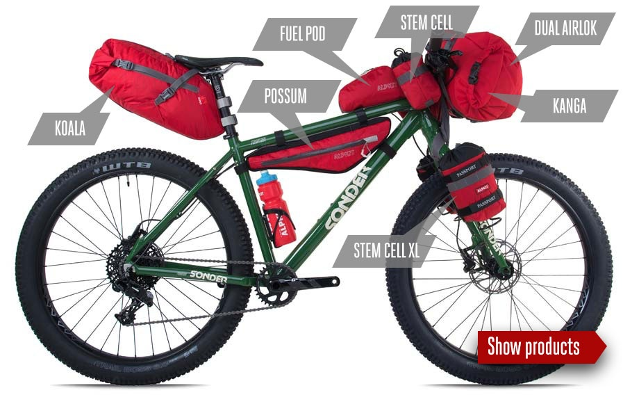 Bikepacking Luggage bundle - Fast, light, adaptable and simple.We've got a set up to suit your bike and your adventure.